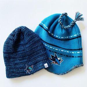 2 for 1: San Jose Sharks Knit Face-Off Beanies